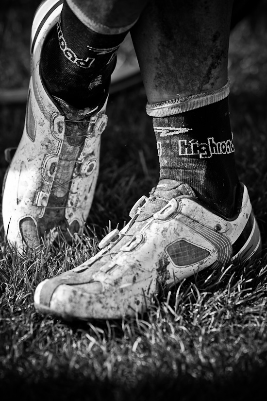 the shoes after the race