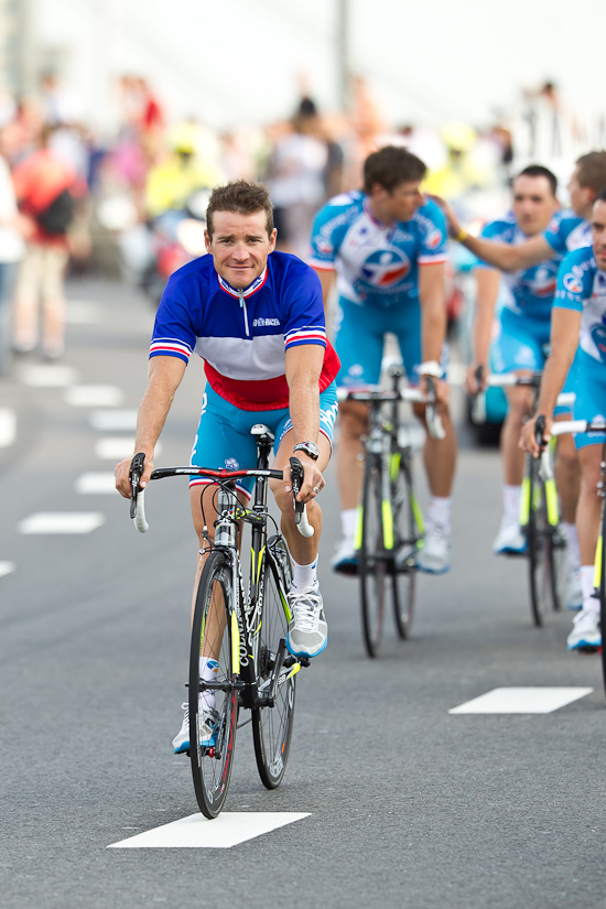 Thomas Voeckler in his National Champion's jersey