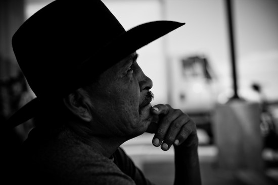 A Navajo gentleman named Norman shares stories with us at a gas station stop