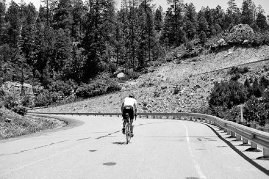 Pierre on his way to take the KOM on Buffalo Pass