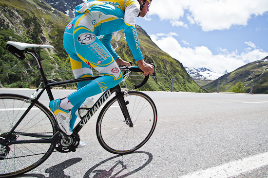 Kreuziger on the Tarmac 4 in the Swiss Alps
