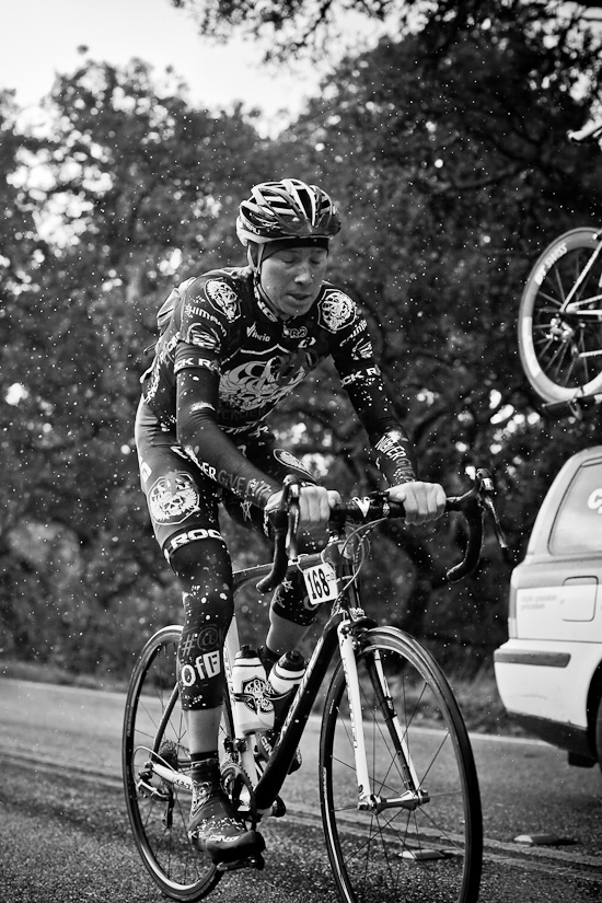 Rock Racing's Chris Baldwin prays for deliverance from the pain on the last climb of the day
