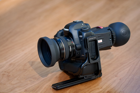 5D MKII with Z-finder and Really Right Stuff L Bracket and Rail