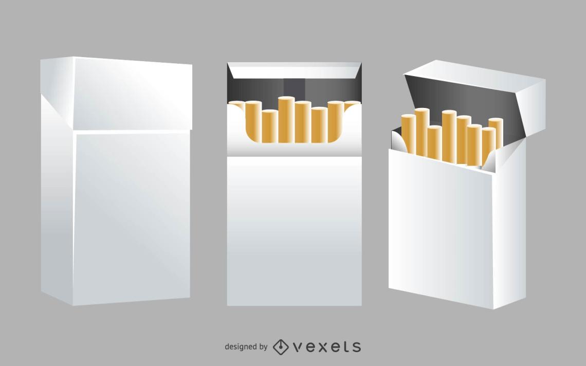 Download Cigarette box mockup - Vector download