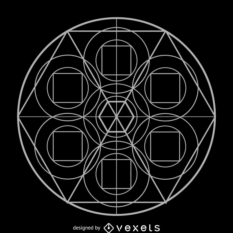 Simple Sacred Geometry Drawing