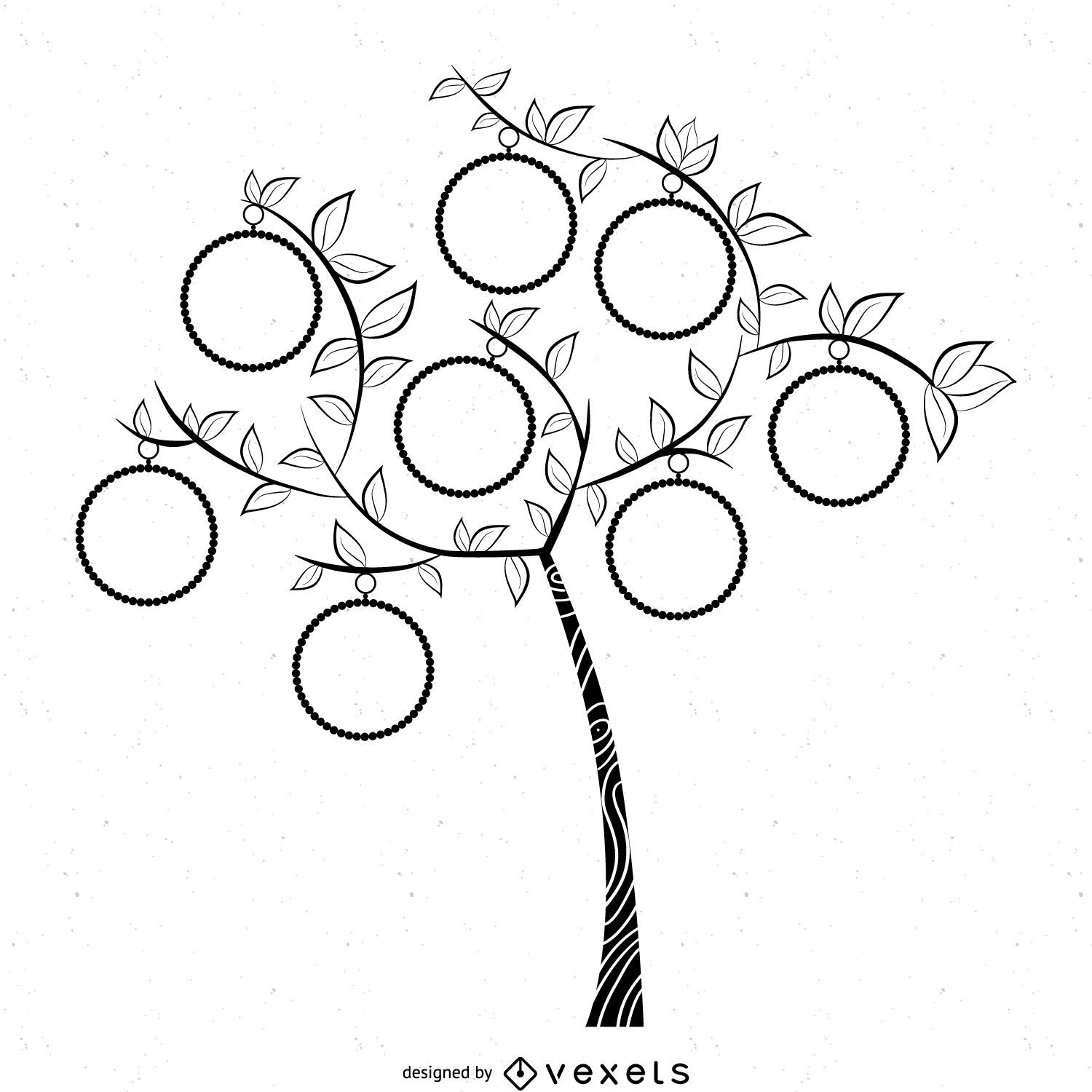 Simple B Amp W Family Tree Template
