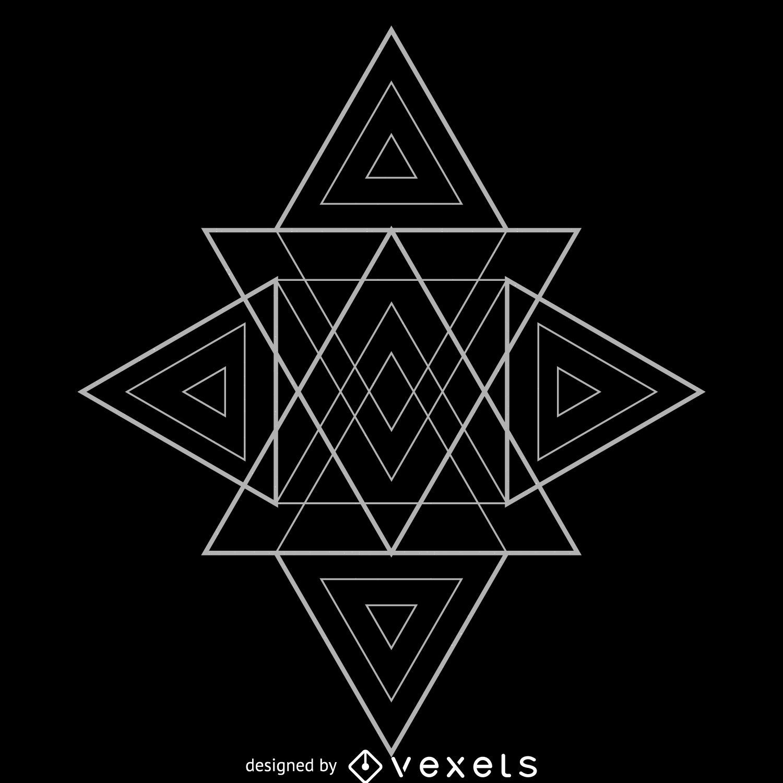 Many Triangles Sacred Geometry Design