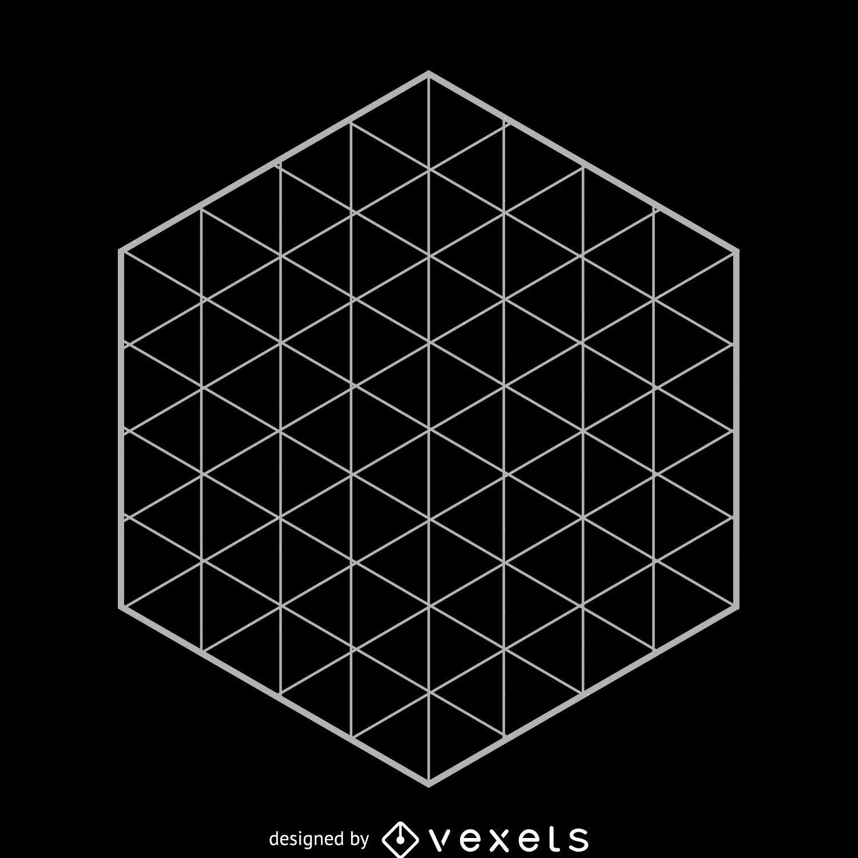 Hexagonal Grid Sacred Geometry
