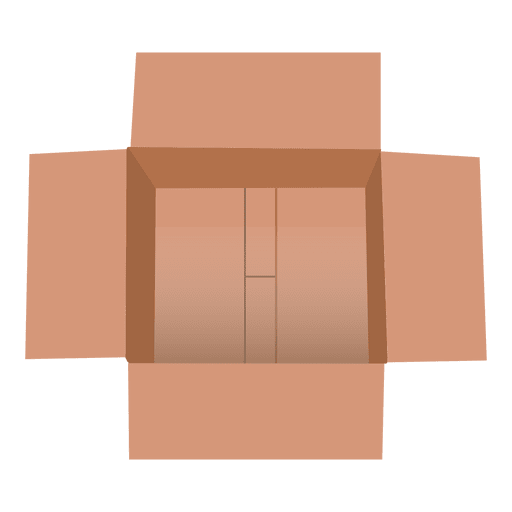 Open Cardboard Box Transparent PNG Amp SVG Vector