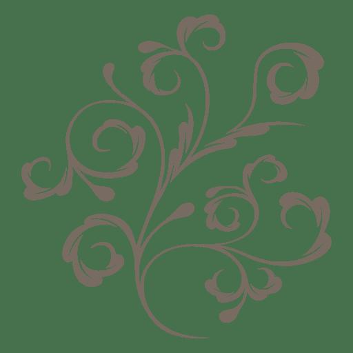 Decorative Plant Swirls Transpa Png
