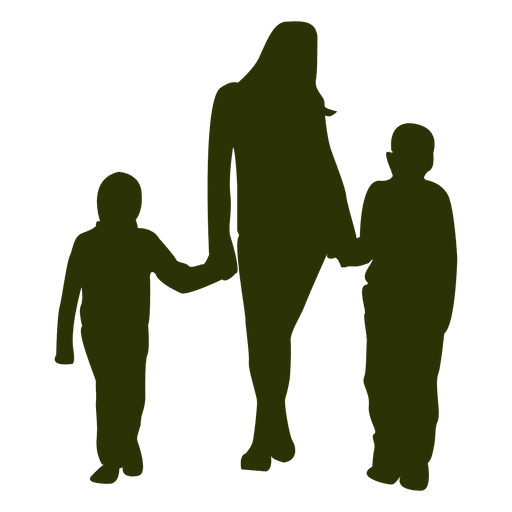 Download Mother with two sons - Transparent PNG & SVG vector file
