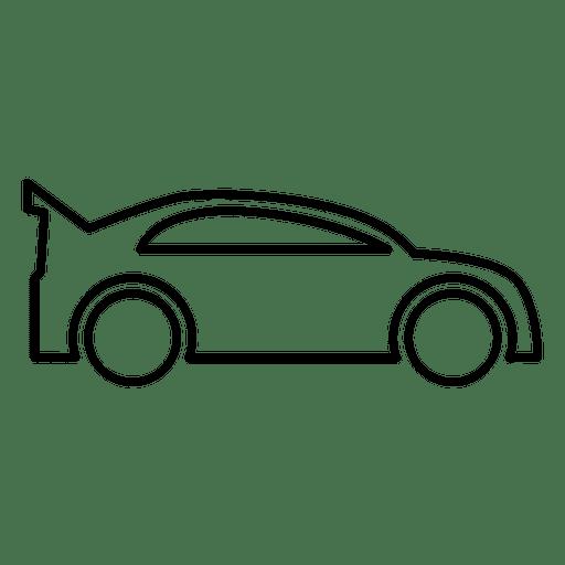 Racing Car Outline Transparent Png Svg Vector File