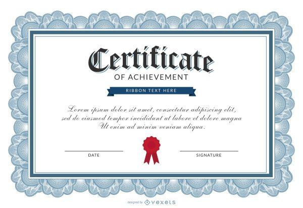 Certificate of achievement template - Vector download