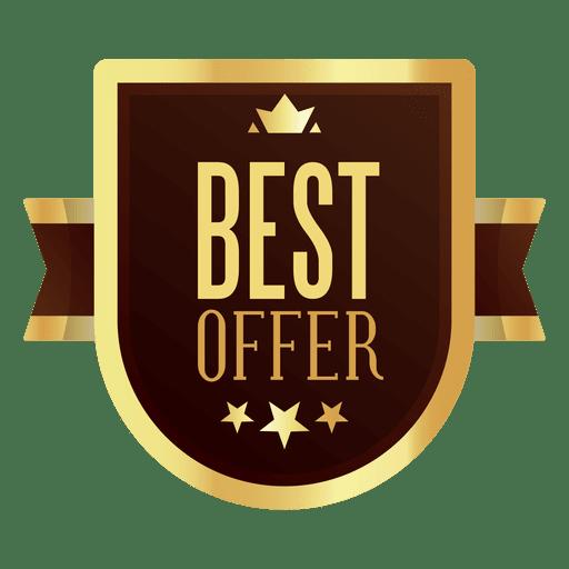 Mejor insignia de oferta - Descargar PNG/SVG transparente