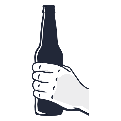 Download Hand holding beer bottle - Transparent PNG & SVG vector file