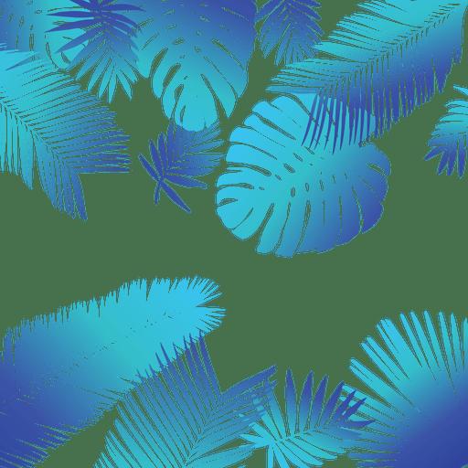 Blue tropical leaves background - Transparent PNG & SVG ...
