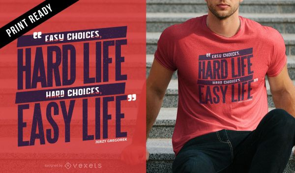 Life choices t-shirt design - Vector download