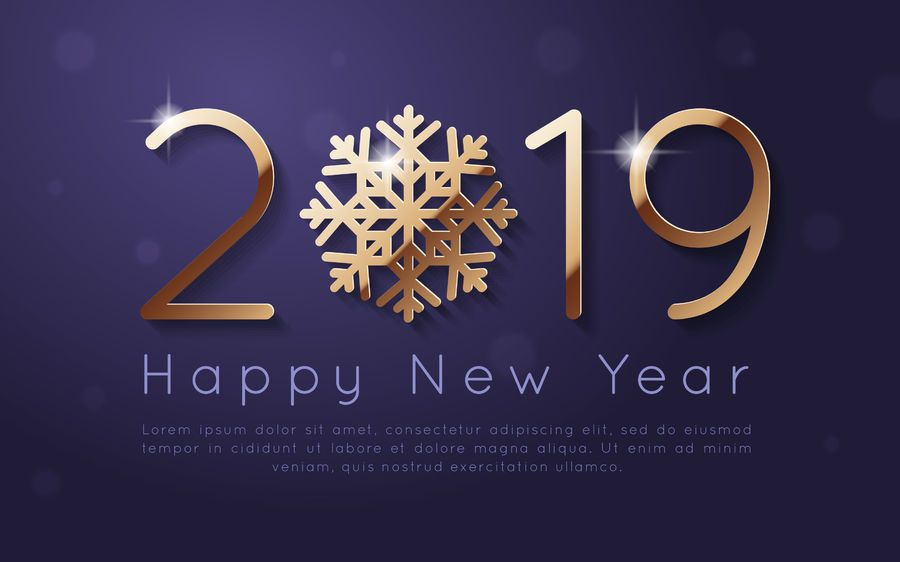 New Year 2019 Background Design Vector Download