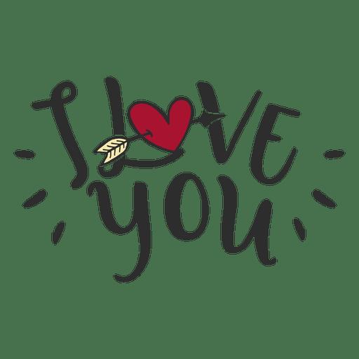 Download I love you message lettering - Transparent PNG & SVG ...