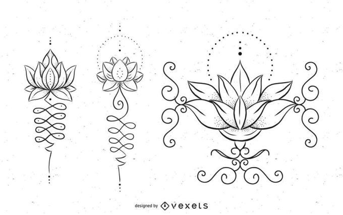 Unalome Tattoo Design Set - Vector Download