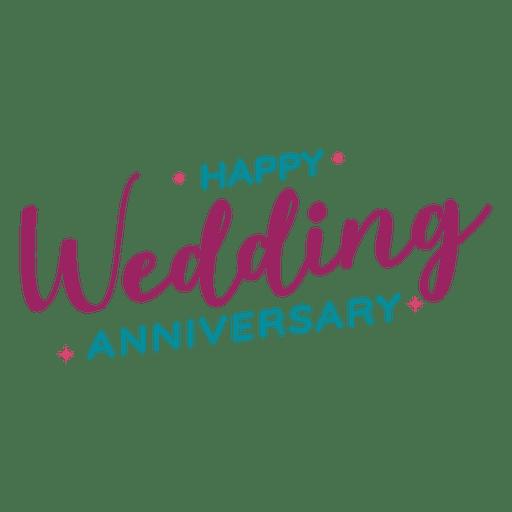 Happy Wedding Anniversary Lettering