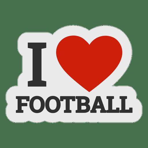 Download I love football sticker - Transparent PNG & SVG vector file
