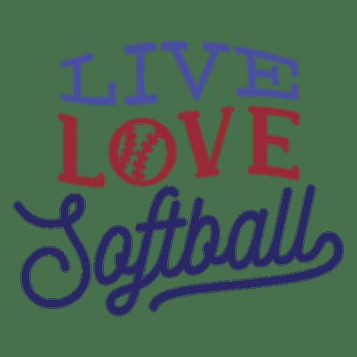 Download Live love softball ball stitch badge sticker - Transparent ...