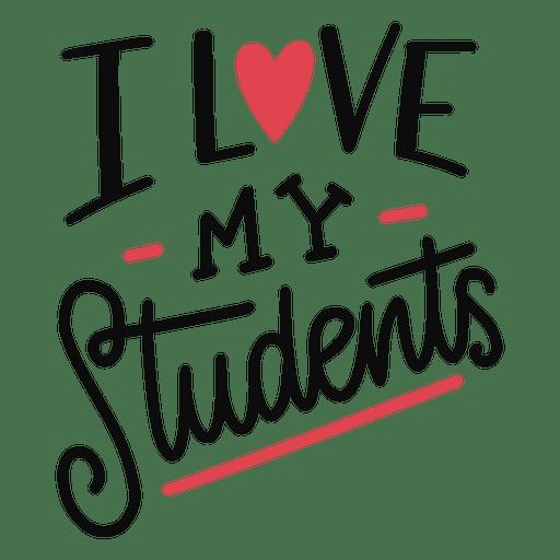 Download Love my students lettering design - Transparent PNG & SVG ...