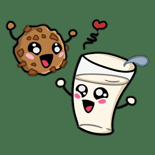Download Cookie milk love - Transparent PNG & SVG vector file