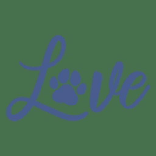 Download Love dog footprint lettering - Transparent PNG & SVG ...
