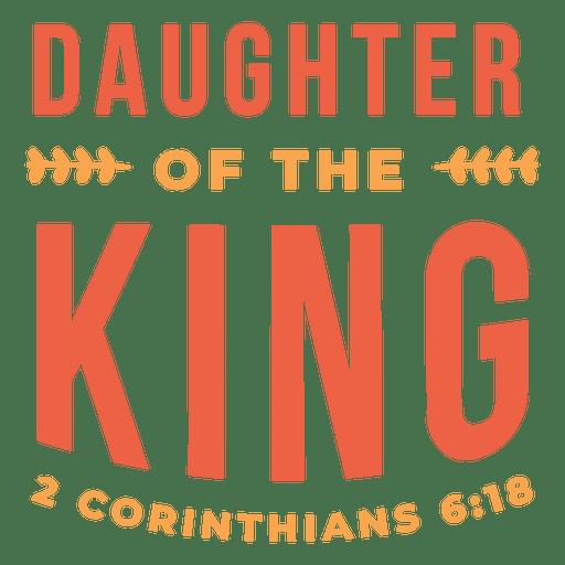 Download Daughter the king lettering - Transparent PNG & SVG vector ...
