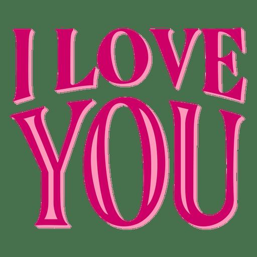 Download I love you valentine lettering - Transparent PNG & SVG ...