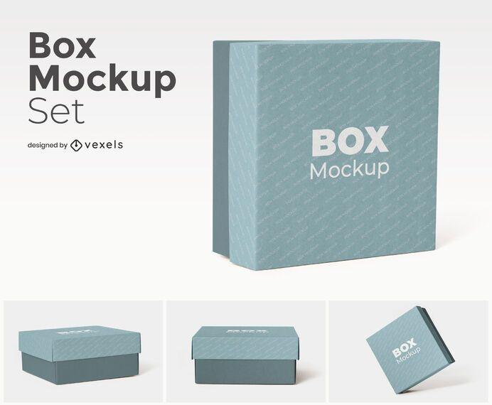 Download Square Box Mockup Set - PSD Mockup Download