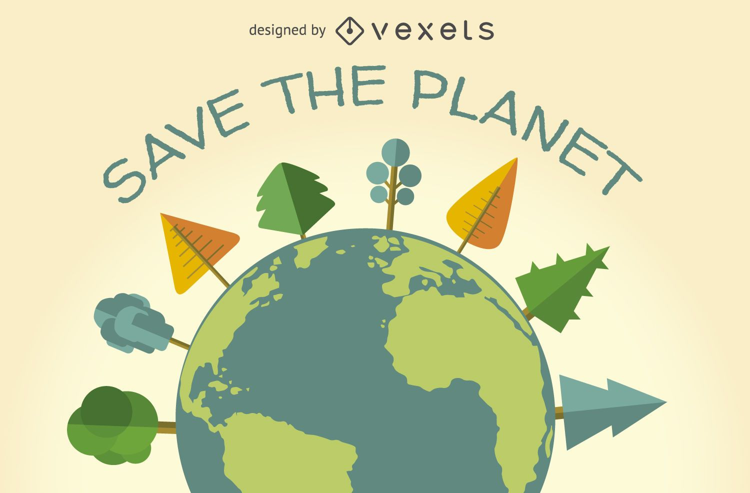 Save The Planet Ecology Sign
