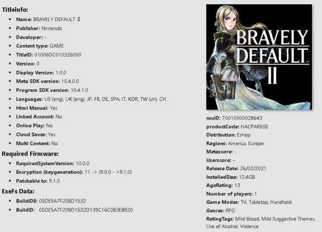 Bravely Default II Switch NSP XCI Download