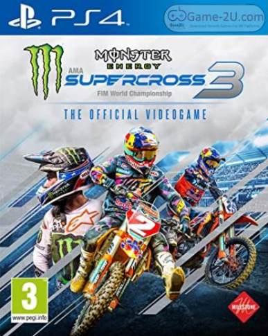 Monster Energy Supercross - The Official Videogame 3 PS4 PKG