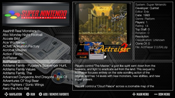 SNES Complete Roms Collection for Nintendo Switch NSP Screen