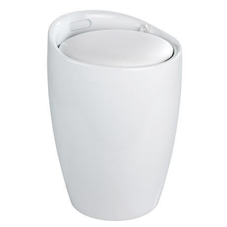 Wenko Candy Modern Laundry Bin Bath Stool White 20631100 At Victorian Plumbing Uk