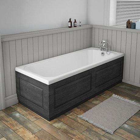 York 1700 X 700 Single Ended Bath Inc Dark Grey Panels Victorian Plumbing Uk