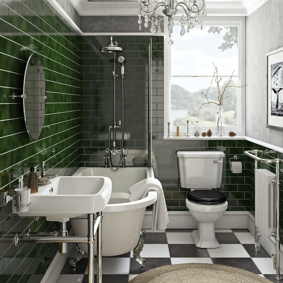 The Bath Co Dulwich Freestanding Shower Bath Suite With
