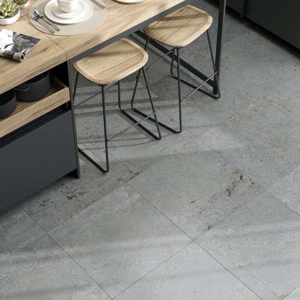 michigan light grey stone effect matt wall and floor tile 600mm x 600mm