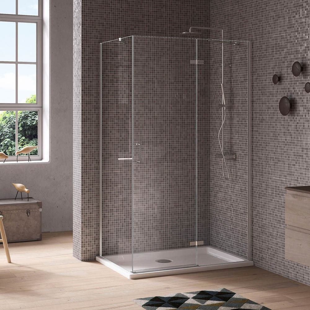 Jacuzzi The Essentials Hinged Door Shower Enclosure 1000x800
