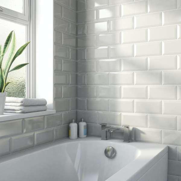 White Gloss Kitchen Wall Tiles