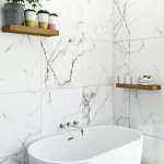 Polar White Marble Effect Matt Wall And Floor Tile 600mm X 600mm Victoriaplum Com