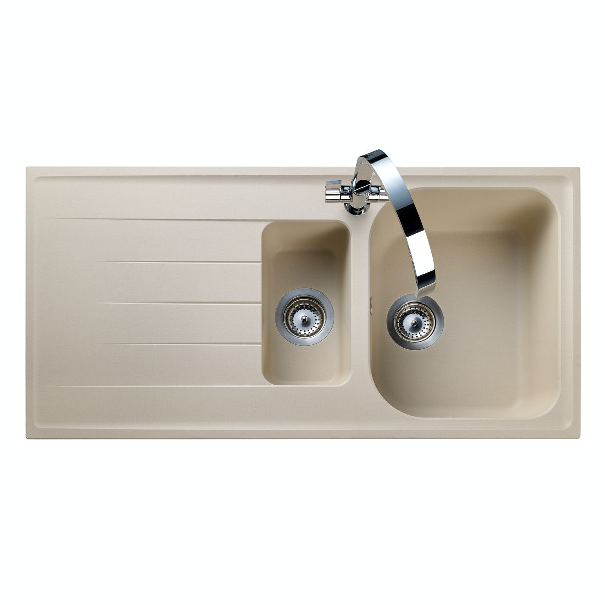 rangemaster amethyst igneous 1 5 bowl stone kitchen sink