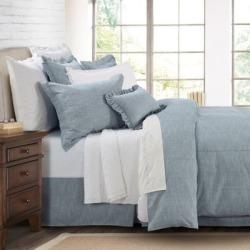 HiEnd Accents 3 pc. Chambray Comforter Set FB1751-FL-OC