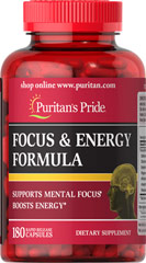 Energy & Focus Complex We are proud to bring you Puritan's Pride Energy & Focus Complex. Look<br /><br /><br /><br />  to Puritan's Pride for high quality products and great nutrition at the<br /><br /><br /><br />  best possible prices.</p><br /><br /><br /> <p> 180 Capsules  $19.99