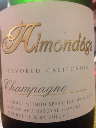 Almondage Flavored California Champagne Charmat Method Sparkling NV Wine Info