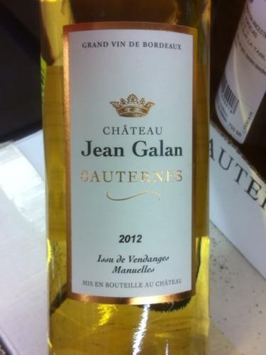 Chteau Jean Galan Sauternes 2012 Wine Info
