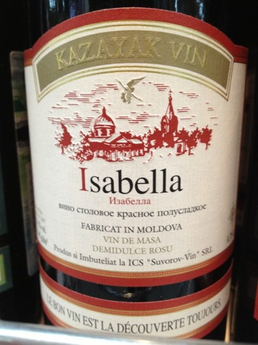 Kazayak Vin Fabricat In Moldova Isabella Demidulce Rosu Wine Info